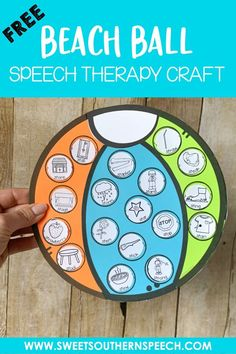Beach Ball Craft Freebie For Speech Therapy - Sweet Southern Speech