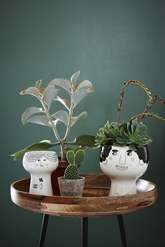 I LOVE THESE. Meyer Lavigne's Flower me happy pots.