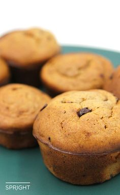 We love muffins here at Spright. These muffins are a perfect Paleo vehicle to improvise on muffin accessories. Remove the chocolate chips and try adding nuts or raisins.