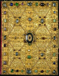 Gospels of Reichenau, early 11th century. Gold, jewels and pearls. Germany.