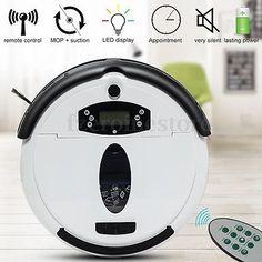 Compact High Suction Robotic Vacuum Cleaner Pet Fur Dust Hard Floor Carpet 65min