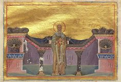 Hieromartyr Hierotheus of Athens, first Bishop of Athens.Menologion of Basil II, Menologion of Basileiou - century illuminated byzantine manuscript with 430 miniatures, now in Vatican library (Vaticanus graecus Vatican Library, 11th Century, Byzantine, Athens, Saints, Miniatures, Culture, History, Painting