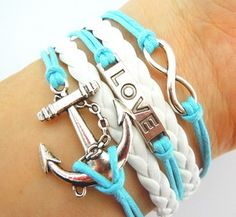 Anchor Bracelet Set! OMG WANT THIS SO BAD CUTEST THING EVER!!!!❤