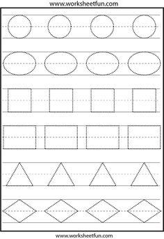 Abc Worksheets For Preschool To Free. Abc Worksheets For Preschool - P&K Math Worksheet For Kids - Math Worksheet for Kids Shape Tracing Worksheets, Shape Worksheets For Preschool, Kids Math Worksheets, Free Printable Worksheets, Free Preschool, Preschool Lessons, Preschool Learning, Tracing Shapes, Teaching