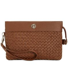 $39.75 Giani Bernini Woven Leather Convertible Crossbody, Only at Macy's - Handbags & Accessories - Macy's