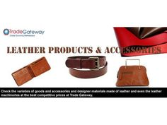 Leather Products Manufacturers and Traders New Delhi - WikiDok