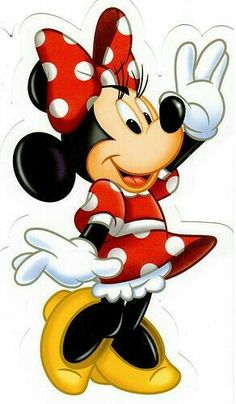 Molde de minnie mouse roja