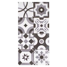 Barcelona White and Black Ceramic Tile - 5in. x 5in. - 100208040 | Floor and Decor