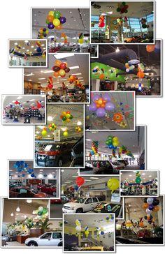 auto showroom balloon decor   Car Dealerships & Showrooms
