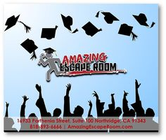 What do you have planned after #graduation? How about a fun & exciting Escape Game at Amazing Escape Room Los Angeles?