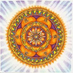 The sacral chakra mandala - Swadhisthana is symbolized by a white lotus within which is a crescent moon, with six vermillion, or orange petals. The Sacral Chakra is located in the sacrum 2nd Chakra, Sacral Chakra, Chakra Healing, 7 Chakras, Mandala Art, Meditation, Sacred Art, Fractal Art, Yin Yang