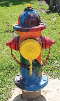 "Route 66 Sullivan, Missouri Fire Hydrant ""Elementary School Art Club 2"""