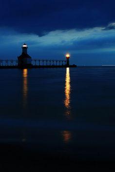 St Joseph Pier Lighthouse in St Joseph, Michigan