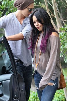Purple Ombre Hair Color | Vanessa Hudgens With New Purple Haircolor | Fashion Trend Seeker