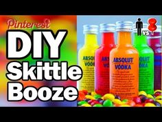 DIY Skittles Booze - Man Vs.Pin #27 - YouTube| Do the sprite one!!!! :)