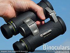 Secure grip with the open bridge design on the Vanguard Endeavor ED Binoculars Bridge Design, Binoculars, Good Things, Hunting, Pairs, Fighter Jets