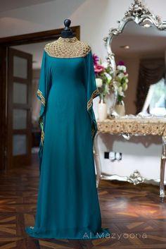 nice Al Mazyoona Dubai Arabic Chiffon Kaftan Dress Abaya Jalaba Farasha Khaleeji Maxi