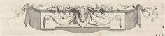 anoniem | Kop van een ram met ornamenten van fruit en linten, workshop of Bernard Picart, 1683 - 1733 |