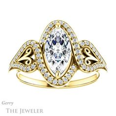 Marquise Cut Engagement Ring Setting