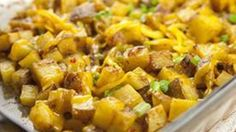 A simple baked potato dish that's backed with flavor thanks to a few simple ingredients.