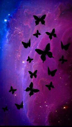 Black Butterfly Purple iPhone 7 Wallpaper – My Pin Page Glitter Phone Wallpaper, Butterfly Wallpaper Iphone, Beste Iphone Wallpaper, Cute Wallpaper For Phone, Dark Wallpaper, Striped Wallpaper, Cellphone Wallpaper, Mobile Wallpaper, Wallpaper Backgrounds