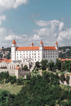 Aerial view of the Bratislava Castle Military Cemetery, Visit Prague, Bratislava Slovakia, Christmas Travel, Famous Places, Paris, Travel Inspiration, Travel Ideas, Grand Hotel