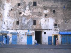The Mellah - Fes, Morocco - is the old Jewish quarter of Fes. very different architecture from the rest of Fes.