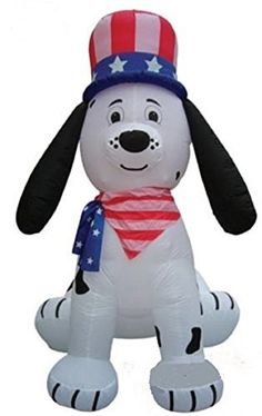 4TH OF JULY INFLATABLE 8 TALL PATRIOTIC DALMATION *** Want additional info? Click on the image.