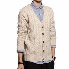 ICYMI: Cloudstyle 2017 New Men Fashion Autumn Winter Long Sleeve Sweaters Coat Cardigan