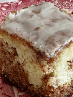 Cinnamon Roll Cake.....it was very good I used a tiny bit smaller of a pan and had to good it a lot longer for it to good all the way through but the taste was amazing and smelled amazing