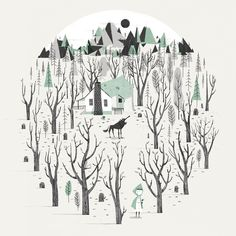 Black Forest by Johnny Kotze, via Behance флат ван момент стиль