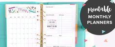 February 2016 Free Printable Monthly Planner Page - Clementine Creative Daily Planner Pages, Daily Planner Printable, Life Planner, Monthly Planner, Monthly Goal, Letter Practice Sheets, Morning Motivation Quotes, Printable Paper, Free Printable