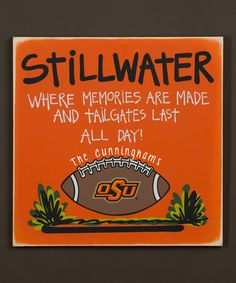 Look at this #zulilyfind! Oklahoma State Cowboys Personalized Tailgate Sign #zulilyfinds