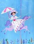 Mary Poppins by *spicysteweddemon on deviantART... what an adorable theme for a nursery or little girl's room!