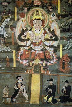 Sutra Cave Manuscript. Avalokitesvara as Savior from Evils (Lotus Sutra, ch. 25). Handscroll. China, Tang Dynasty, 10th century.