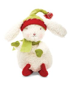 Take a look at this Cream & Red Elfish Bun Bun Plush Toy by Bunnies by the Bay on #zulily today!