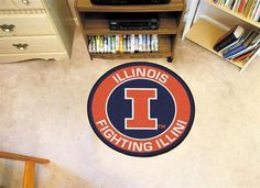 Round University of Illinois Floor Rug