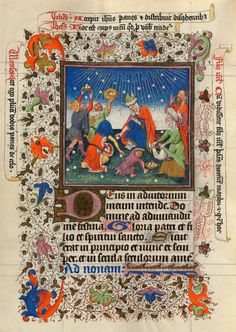 Gathering of Manna   Hours of Catherine of Cleves   Illuminated Manuscript   ca. 1440   The Morgan Library & Museum