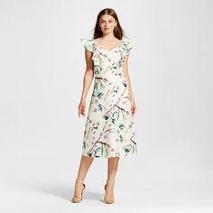 44492d3c1f9 Women s V-Neck Ruffle Maxi Dress Cream - J by JOA   Target Ruffle Dress