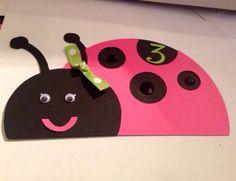 Ladybug Invitations by partiesbloom on Etsy, $3.75