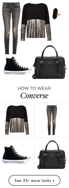"""""""Untitled #799"""" by elizabethduff on Polyvore featuring R13, Converse, Jaeger and Kate Spade"""