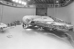Building the Millennium Falcon in the soon to be Docking Bay 94 set on Star Wars