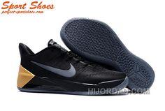 6b8d3e8df48 Nike Kobe A.D. Sneakers Men Low Black Golden For Sale JAiGfN