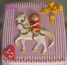 Girl on Horse Cake