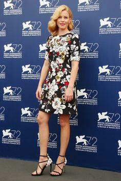 Elizabeth Banks Print Dress - Elizabeth Banks was a lovely burst of blooms in this Dolce