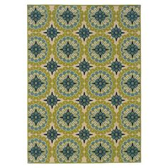 Woven indoor/outdoor rug with a tile-inspired motif.   Product: RugConstruction Material: Polypropylene...