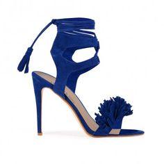 August Stiletto Heels in Cobalt Faux Suede