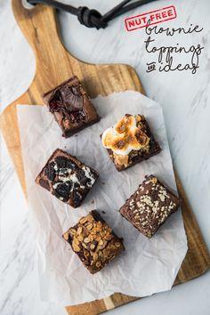 Brownie Toppings & Ideas – Busy in Brooklyn Fudgy Brownie Recipe, Brownie Toppings, Brownie Recipes, Small Desserts, Great Desserts, Dessert Recipes, Brownie Packaging, Baking Business, Best Brownies