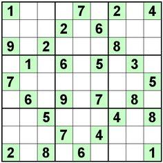 Number Logic Puzzles: 22475 - Sudoku size 9