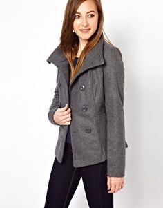 Image 1 of Vila Wool Mix Double Breasted Jacket